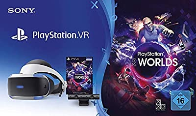 PS4 - PlayStation VR Brille V2 + VR Worlds (VR-Brille I Virtual Reality)