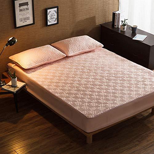 CYYyang Protector de colchón, algodón, poliéster, Una Sola Pieza de Funda Protectora de Color Puro para sábana-15_180 * 200cm
