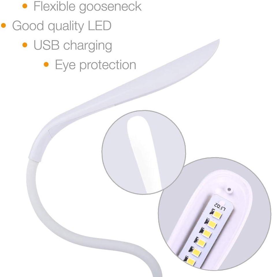 ricaricabile lampada da lettura lampada da lettura bianca 2 pezzi bianco dimmerabile 14 LED con 3 livelli di luminosit/à orientabile USB WOMAO