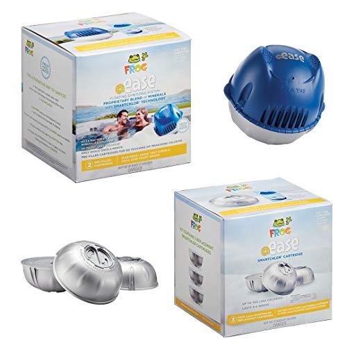 FROG @ease Floating Sanitizing System plus FROG @ease SmartChlor Cartridge 3 Pack, Set