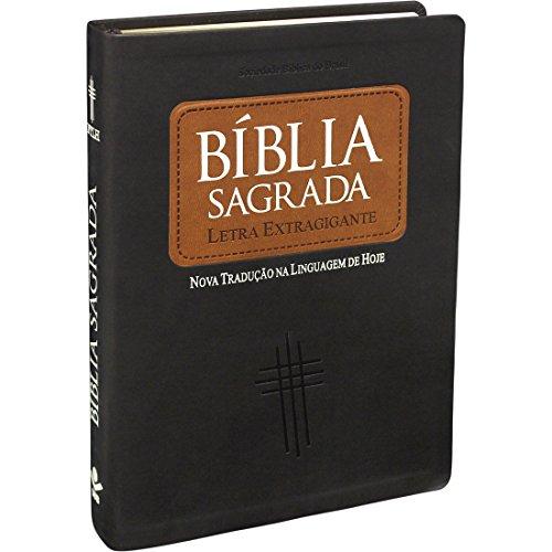 Bíblia Sagrada Letra Extragigante com índice - Capa Marrom escuro: Nova Tradução na Linguagem de Hoje (NTLH)