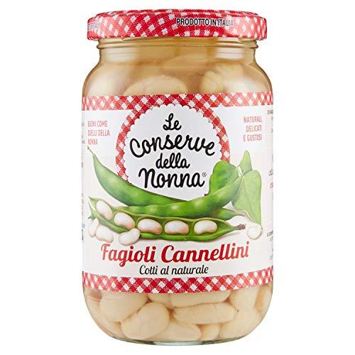 Le Conserve della Nonna Fagioli Cannellini 100% Naturale - 360 gr - [confezione da 6]