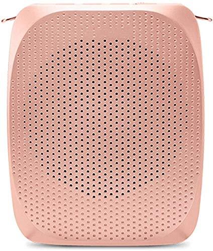 ZOUSHUAIDEDIAN Amplificador de Voz con micrófono inalámbrico de Auriculares, portátil de amplificación de Voz, Altavoz Recargable Mic for Profesores/Aula/Ancianos, ect Rosa (Color : Pink)