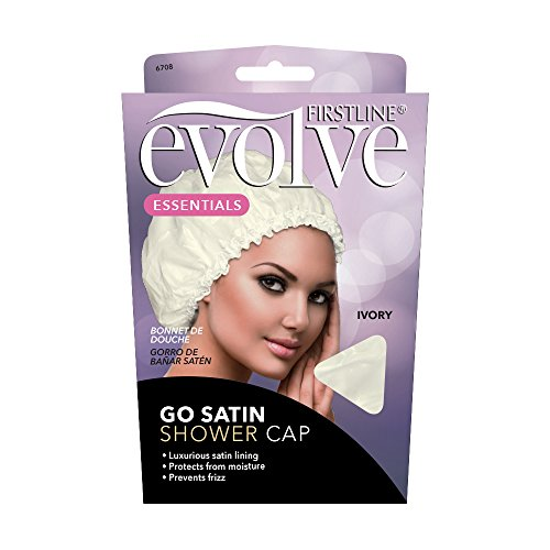 Firstline Evolve Go Satin Shower Cap - Ivory