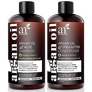 artnaturals Moroccan Argan Oil Shampoo and Conditioner Set - (2 x 16 Fl Oz / 473ml) - Volumizing & Moisturizing - Gentle… 9