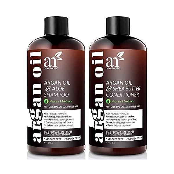 artnaturals Moroccan Argan Oil Shampoo and Conditioner Set - (2 x 16 Fl Oz / 473ml) - Volumizing & Moisturizing - Gentle… 1