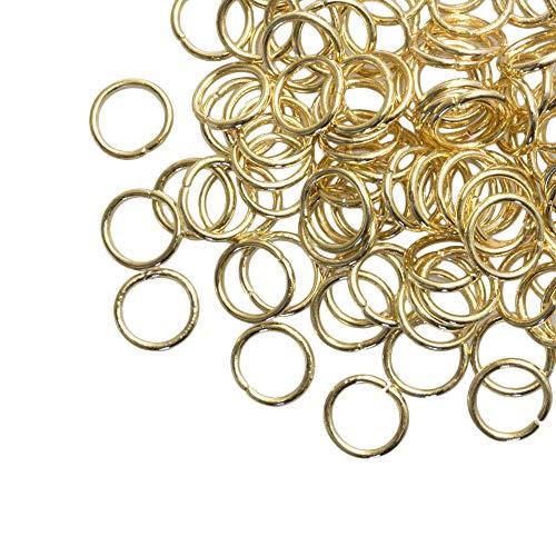 Dreambeads Online - Anelli pieghevoli in oro (8 mm), 100 pezzi, spessore 1 mm