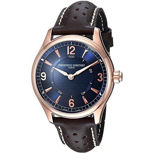 FREDERIQUE CONSTANT Unisex Datum Norm Quarz Uhr mit Leder Armband FC-282AN5B4