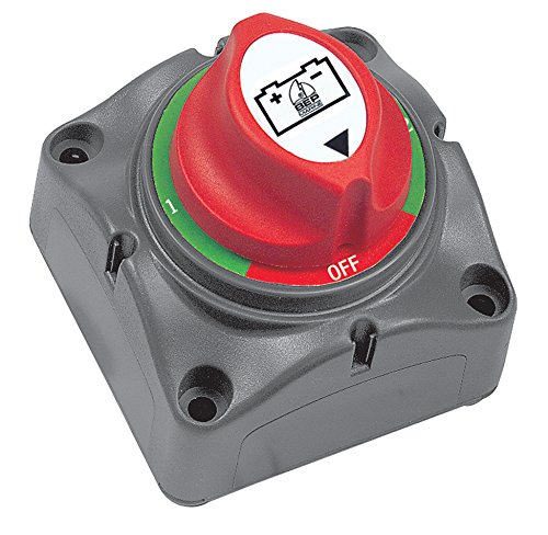 BEP Interruptores de batería, 1-2-Ambos-Fuera, Rojo, Gris (Gray, Red), 2.75' x 2.75' x 3'