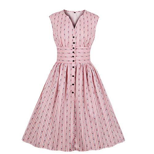 11 colores para mujer, estilo retro, vestido de fiesta de estilo años 60 rosa XXXXL