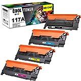 Sin Chip Cool Toner 117A Cartuchos de tóner Compatible para W2070A W2071A W2072A W2073A para HP Color Laser 150a 150nw HP Color Laser MFP 178nw 178nwg 179fwg 179fnw Toner
