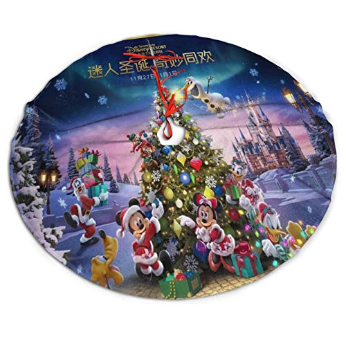 CERYS RILEY Di-Sn-Ey Merry Christmas Tree Skirt Tree Skirt for Xmas Decor Festive Holiday Decoration