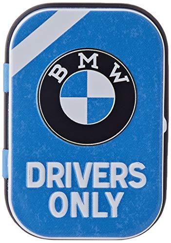 Nostalgic-Art BMW - Drivers Only Blue| Pillen-Dose | Bonbon-Box | Metall | mit Pfefferminz-Dragees