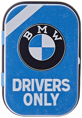 Nostalgic-Art BMW - Drivers Only Blue| Pillen-Dose | Bonbon-Box | Metall | mit Pfefferminz-Dragees