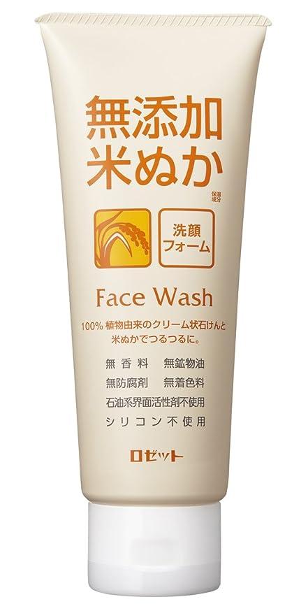 に負ける気を散らす仲介者ロゼット 無添加米ぬか 洗顔フォーム 140g