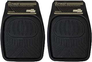 JVL Ultimat Heavy Duty Lipped Universal Car Mat Floor Trays - Set of 2, 50 x 70 cm