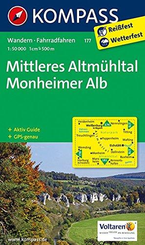Mittleres Altmühltal, Monheimer Alb: Wandern / Rad. GPS-genau. 1:50.000