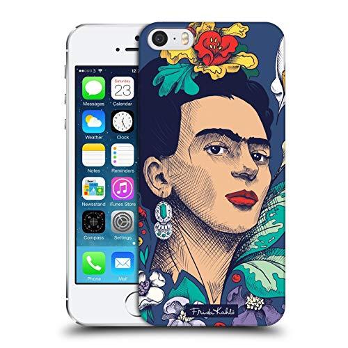 Head Case Designs Licenza Ufficiale Frida Kahlo Fiori Sketch Cover Dura per Parte Posteriore Compatibile con Apple iPhone 5 / iPhone 5s / iPhone SE 2016