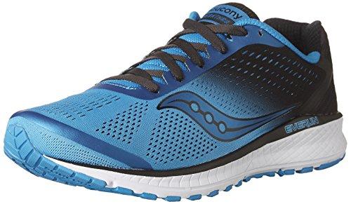 Saucony Men's Breakthru 4 Running Shoe, Blue/Black, 9.5 M US