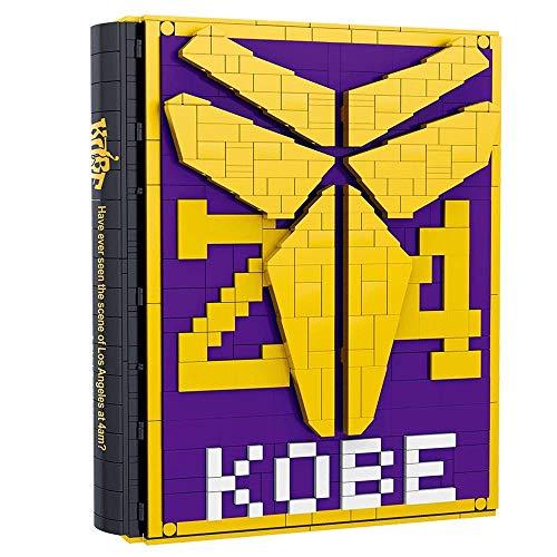 LKITYGF NBA Legend Kobe Bryant Conjunto Completo de Bloques de construcción de Micro-partículas Book-Forever Black Mamba Spirit-Kobe Collection Memorial Manual Fans de Balon