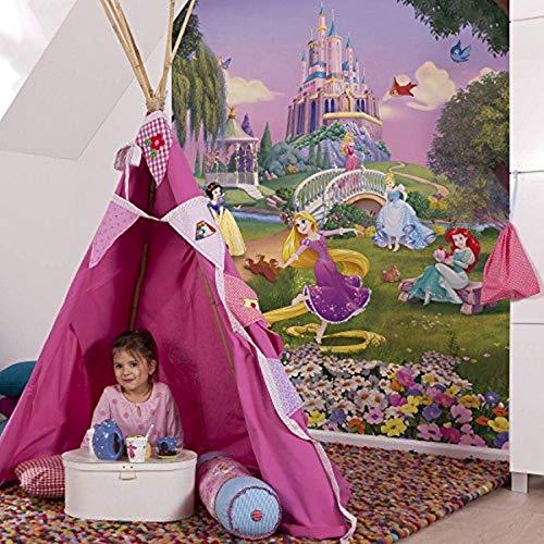 Komar 4-4026 Fototapete Princess Sunset, Größe 184 x 254 cm (Breite x Höhe), 4 Teile, inklusive Kleister, Made in Germany, Bunt