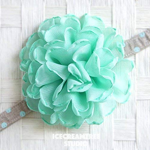 Giant Bloom Collar Slide On, Flower Collar Accessories, Corsage Accessories, Collar Add On - Mint Green