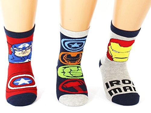 3Pack Calcetines Marvel para Niños