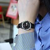 ASBIAOReloj para Mujer Moda Impermeable para Mujer Nueva Tendencia Estudiante Coreano Reloj Simple para Mujer Ambiente Informal Reloj de Cuarzo con Escala de Platino Plateado Hombres
