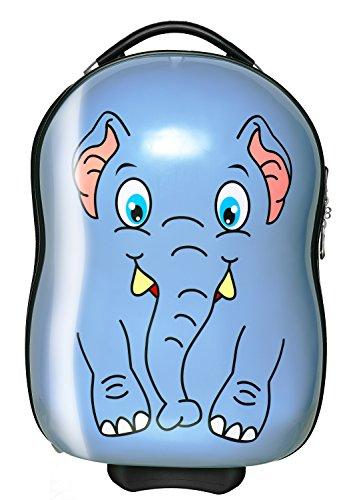 Packenger Kinderkoffer - Elefant - Bordcase, Koffer, 48x33x22cm, 1,8Kg leicht, sehr stabil, leichtgängige Rollen, Kindergepäck