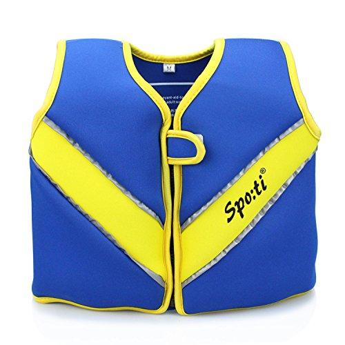 Genwiss Baby Boys Swim Vest Swim Float, Training Jacket for Age 18 Months - 2 Years Baby Toddler Fit 20-28 lbs, Size Small, Blue