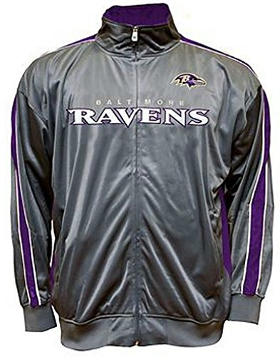 Majestic Baltimore Ravens NFL Mens Charcoal Tricot Track Jacket Big & Tall Sizes (4XL)