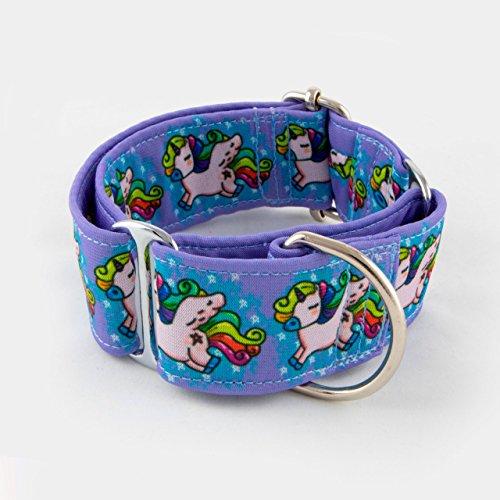 Galguita Amelie 0634438368748 Halsband voor honden Unicorn Rainbow, S