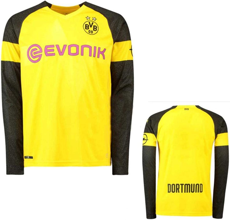 GoFall 2019 Soccer Jersey Men's Long Sleeve Germany Dortmund Long Home Replica