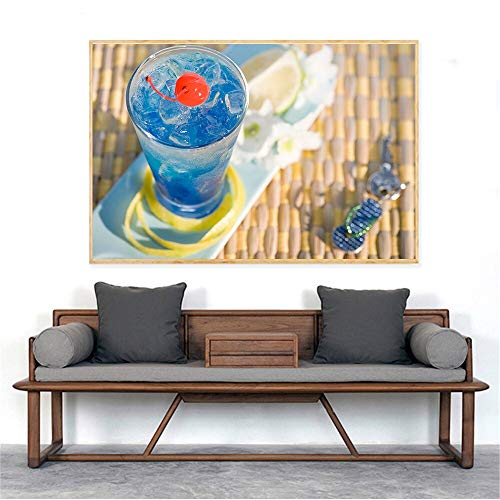 KWzEQ Canvas Painting fruit juice modernposter and decor for living room70x105cmFrameless painting