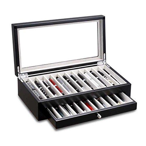 Ferocase FCPEN22-5021BK Edle Sammelbox Penbox für 23 Luxus Schreibgeräte