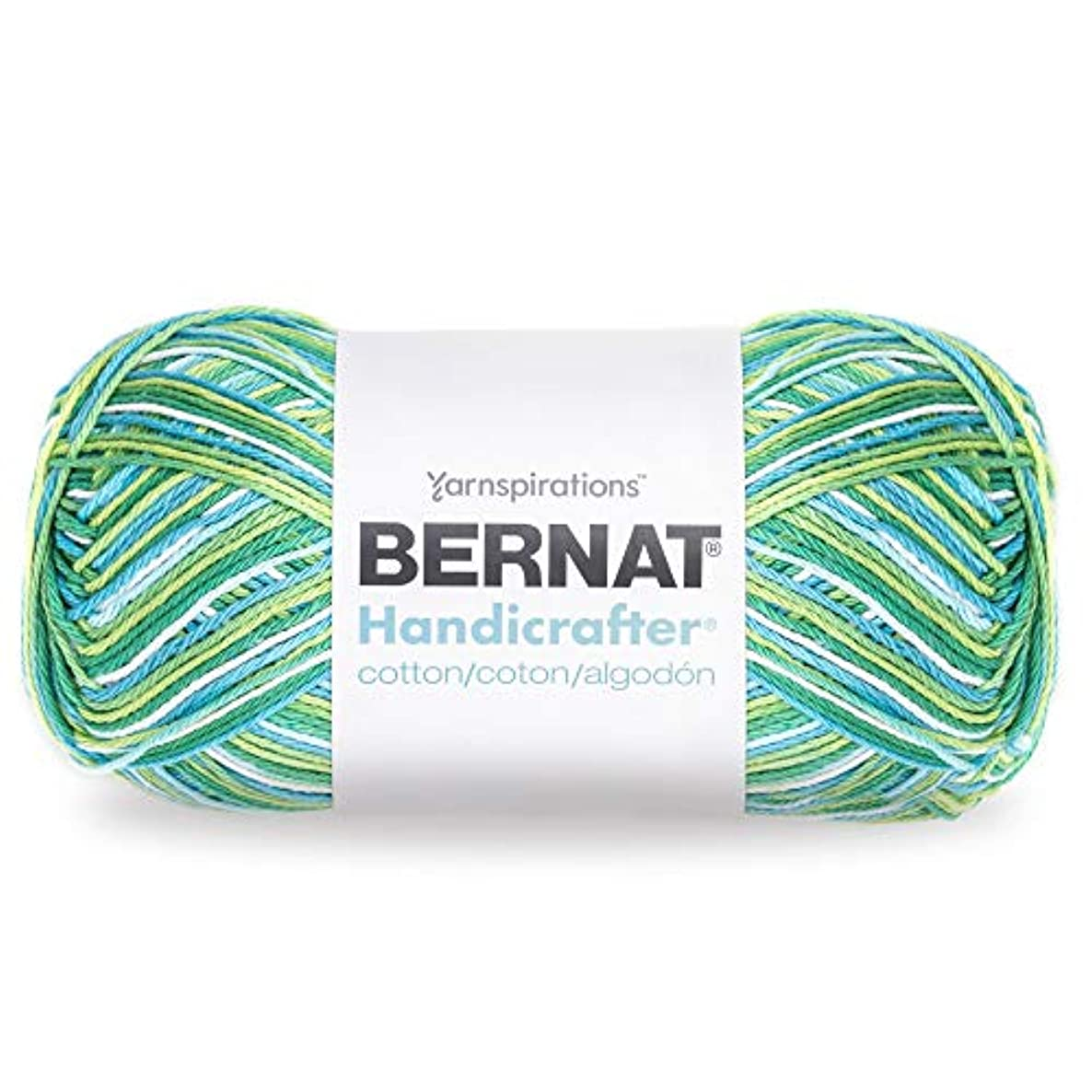 Bernat Handicrafter Cotton Yarn, Gauge 4 Medium Worsted, Emerald Energy