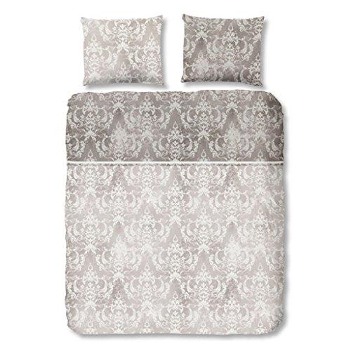 Descanso bettwäsche mit sandfarbenen Barock-Stil, 100% Baumwolle/Satin, 135x200 cm, Ecru, 200 x 135 x 0,5 cm
