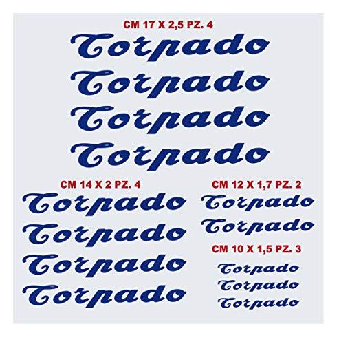Kit Adesivi bici TORPADO tipo 3 compatibile stickers MBK bike cycle -scegli colore- cod.1450 (049 BLU ROYAL)