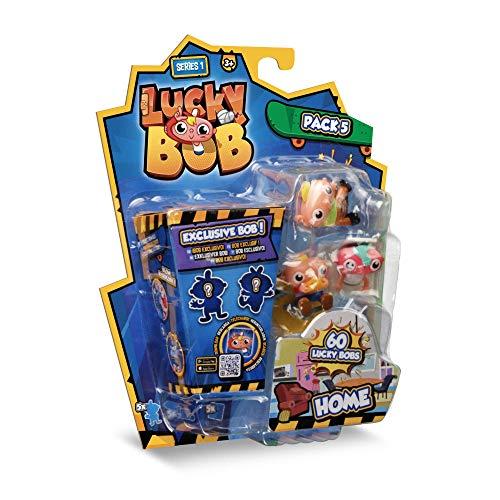LUCKY BOB Figuras Divertidas de Lucky Bob en casa con Sus Accesorios