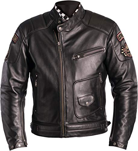Helstons Ridley Motorradjacke, Leder, Dirty Braun, XXL
