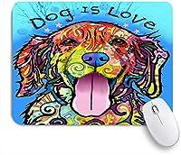 KAPANOUマウスパッド 犬は愛です ゲーミング オフィス最適 おしゃれ 防水 耐久性が良い 滑り止めゴム底 ゲーミングなど適用 マウス 用ノートブックコンピュータマウスマット