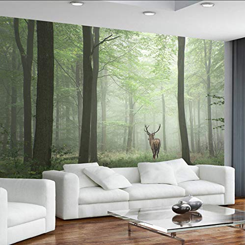 Ponana 3D Mural Wallpaper Moderno Bosque Rana De Árbol Elk Fondo Pintura De La Pared Sala De Estar Tv Sofá Estudio Decoración Para El Hogar Vintage Papeles De Pared-350X250Cm