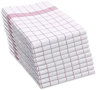 SAMMARA 10 x Torchons de Cuisine 50 x 70 cm | Tissu en Coton de Qualité | Très absorbant et Facilement Lavable | Utilisati...