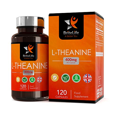 BL L Theanine Capsules High Strength 400mg Per Vegan Capsule | 120 Vegan Tablets | High Strength Nootropic Supplement | Non GMO & Gluten Free | Manufactured in ISO Licensed Facilities in The UK