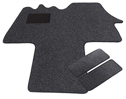 Mertex Automatte Autoteppich Classic anthrazit meliert 16133-C-A (schwarz, Fahrerhausteppich mit 2 Einstiegsmatten)