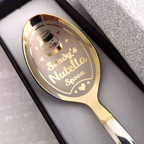 Nutella Löffel in Geschenkbox – personalisierter Löffel – Nutella Liebhaber Löffel – Individueller Löffel – Geburtstagsgeschenk in Geschenkbox – Nutella Geschenk – Andenken