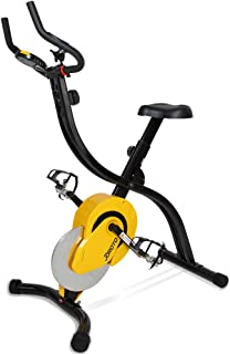 JOROTO Folding Magnetic Upright Exercise Bike with Pulse - Sitting & Standing Indoor Cycling Stationary Bike