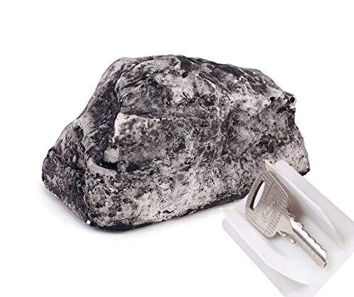 Cache-clés imitation pierre – Cachette coffre pour clef de maison - Fausse pierre trompe l'œil pour jardin