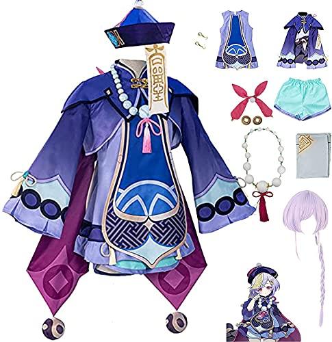 KKDS Costume Cosplay Genshin Impact Qiqi,Uniformi Costumi Halloween Christmas Personaggio Play Party Dress Up Outfits