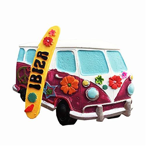 Ibiza España 3D Imán para nevera de viaje, recuerdo de regalo para el hogar y la cocina, pegatina magnética Ibiza colección de imanes